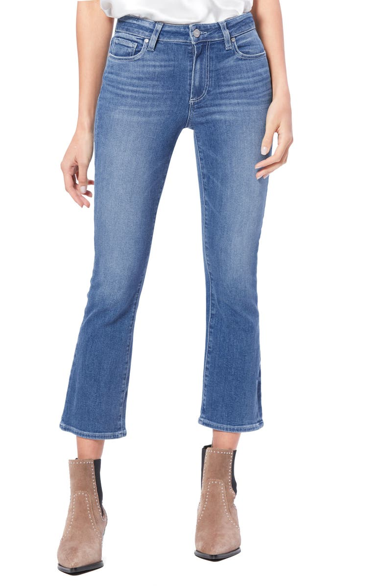 PAIGE Transcend Vintage Colette Crop Flare Jeans, Main, color, GLACIAL