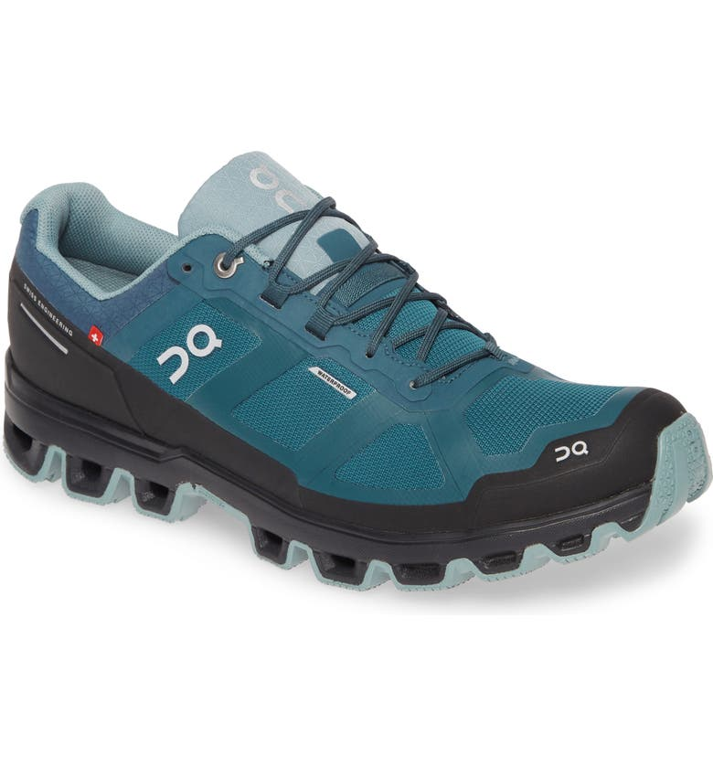 ON RUNNING Cloudventure Waterproof Trail Running Shoe, Main, color, STORM/ COBBLE