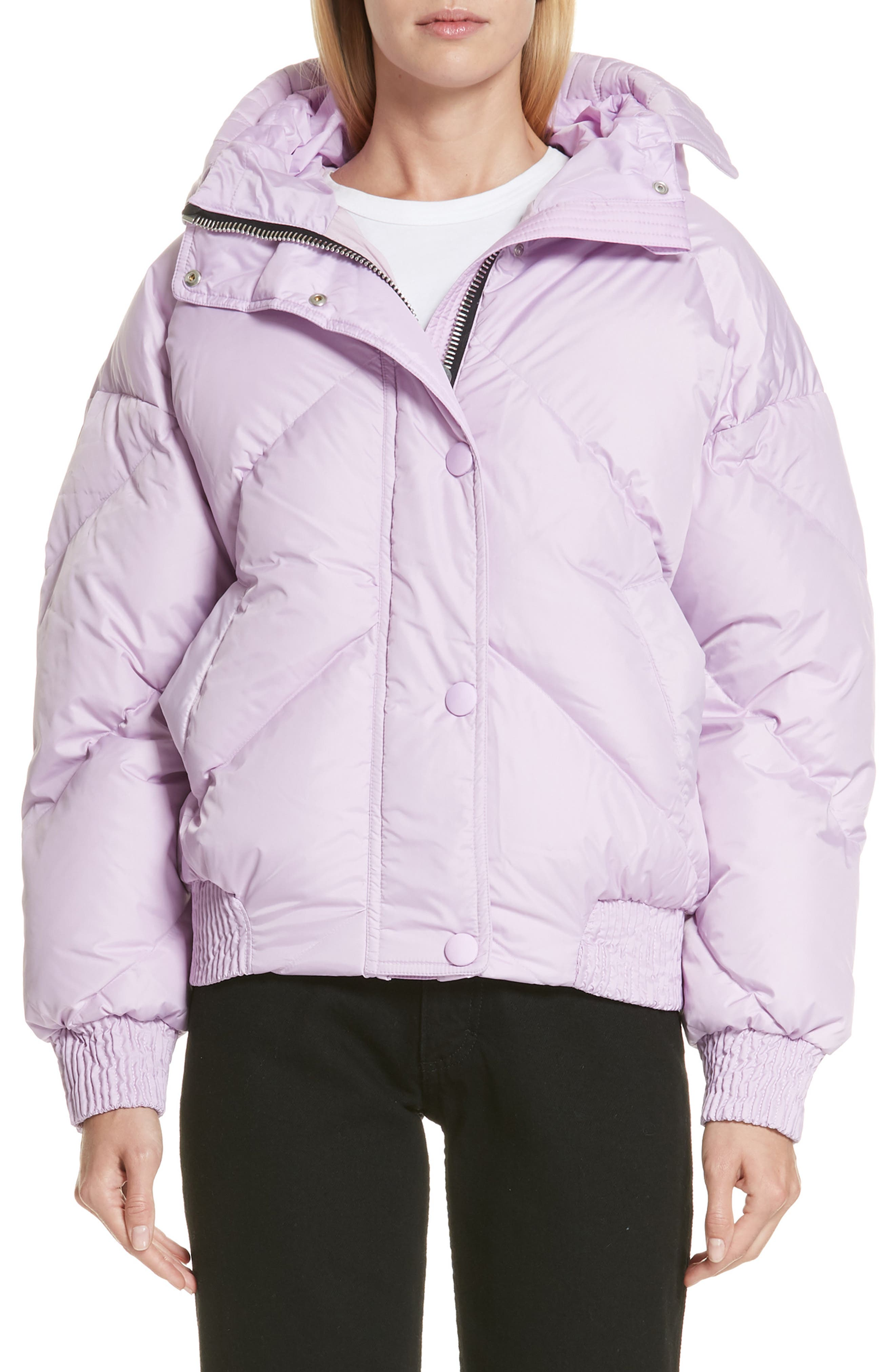 Dunlope Hooded Down Puffer Coat, Main, color, MAURI CRISTAL