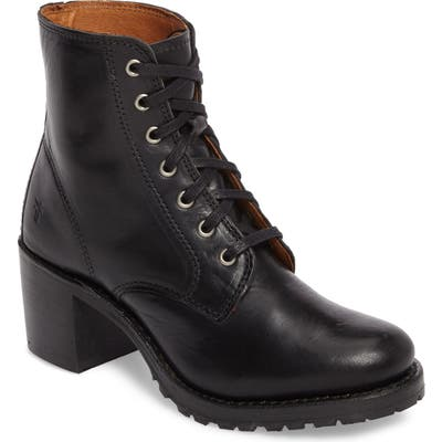 Frye Sabrina 6G Lace-Up Boot, Black