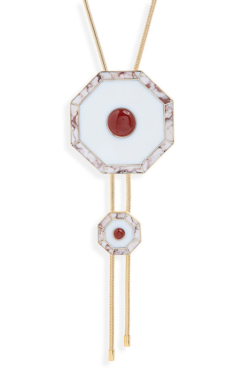 MONICA SORDO Curis Bolero Necklace, Main, color, WHITE/ RED JASPER/ RHODONITE