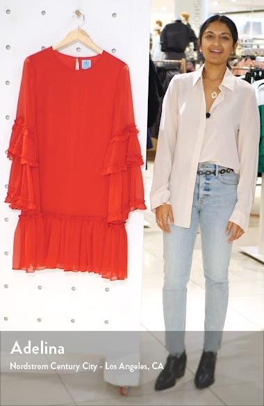 Ruffle Chiffon Shift Dress, sales video thumbnail