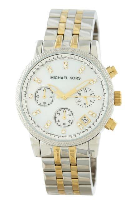 Image of MICHAEL Michael Kors Women's The Ritz Chronograph Bracelet Watch, 36mm