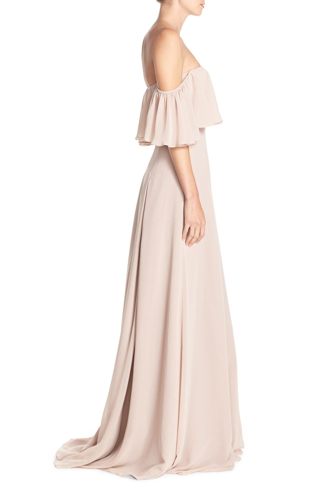 ,                             Off the Shoulder Chiffon Gown,                             Alternate thumbnail 10, color,                             685
