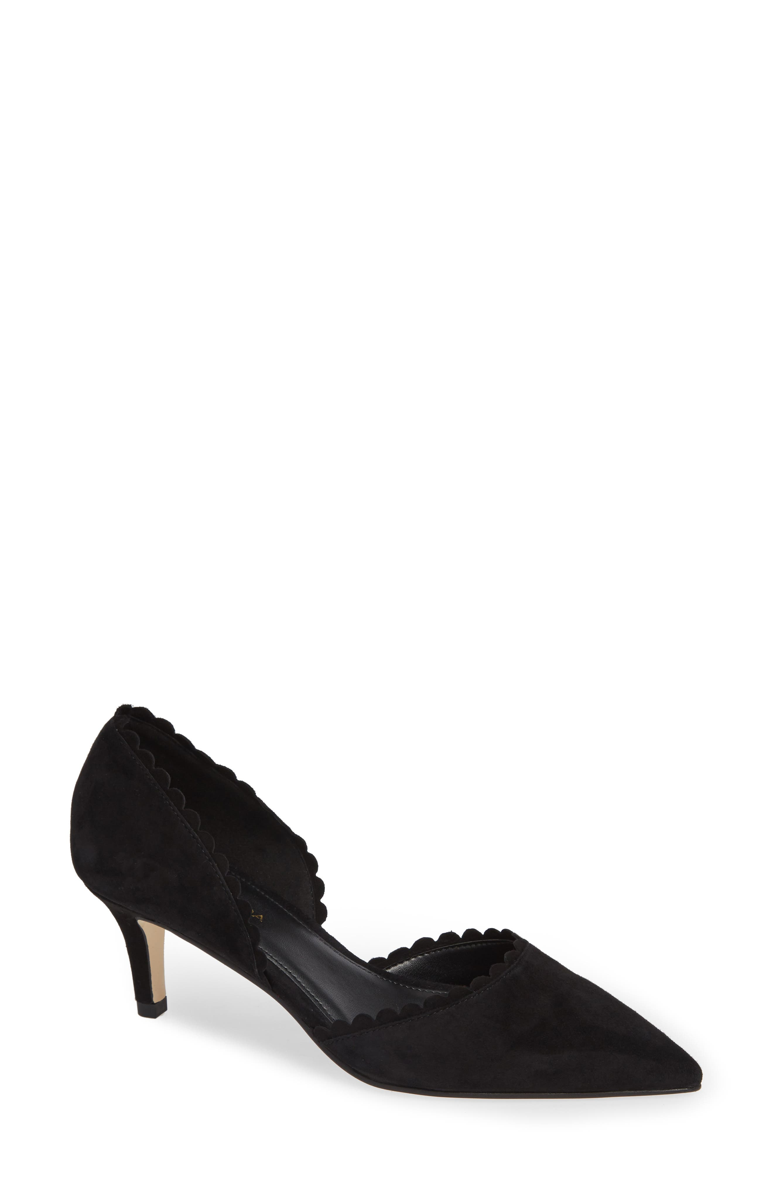 Dainty scalloped edges trim the topline of a work-to-weekend d\\\'Orsay pump gently lifted by a kitten heel. Style Name: Pelle Moda Kenny D\\\'Orsay Pump (Women). Style Number: 5639287. Available in stores.