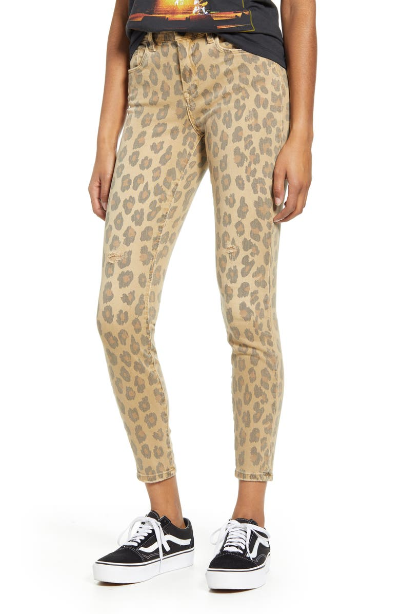 BLANKNYC Leopard Skinny Jeans, Main, color, JUNGLE CAT
