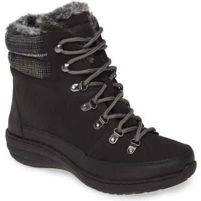 Aetrex Jodie Faux Fur Lined Waterproof Boot, Black