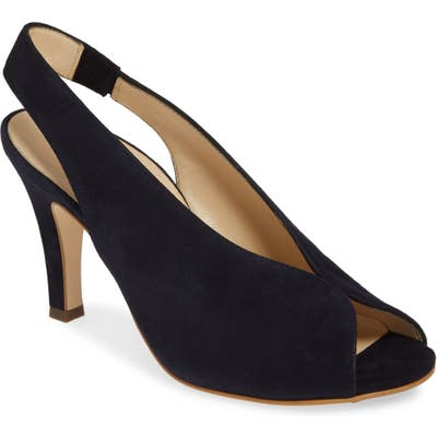 Paul Green Avanti Peep Toe Slingback SandalUS /4UK - Blue