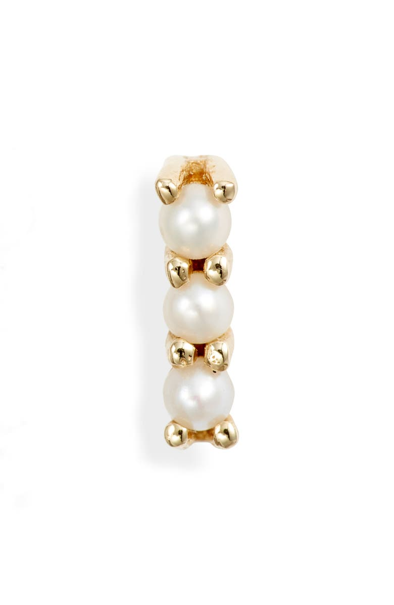 JENNIE KWON DESIGNS Pearl Bar Stud Earring, Main, color, YELLOW GOLD/ PEARL