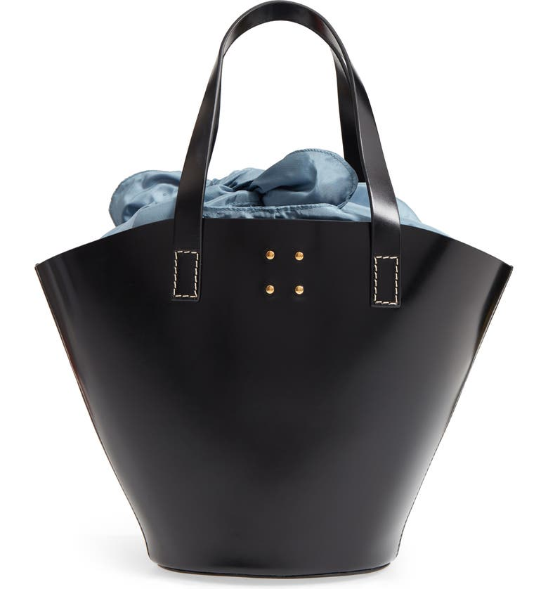 TRADEMARK Large Leather Bucket Bag, Main, color, 001
