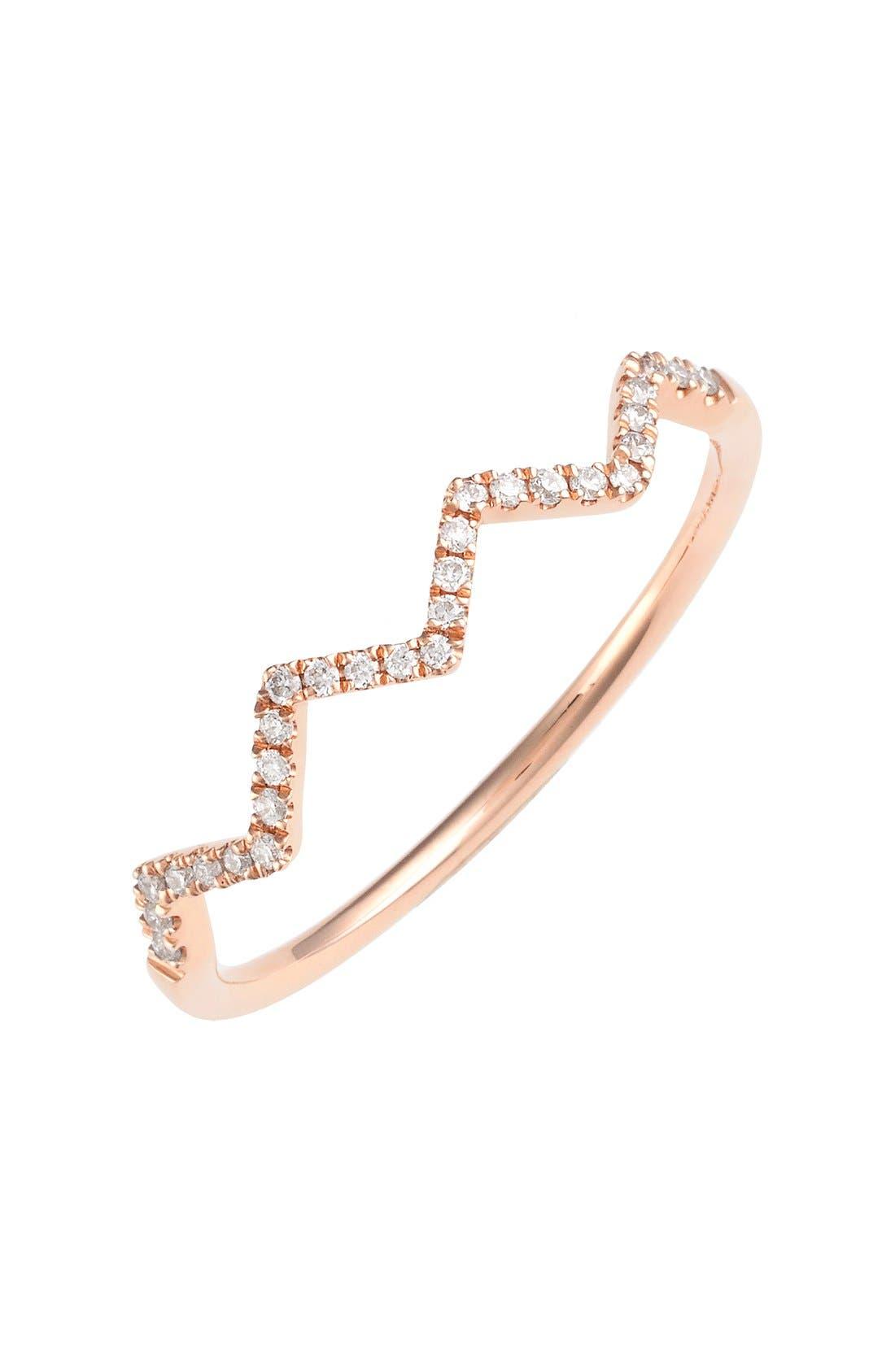 'Stackable' Zigzag Diamond Ring (Nordstrom Exclusive)