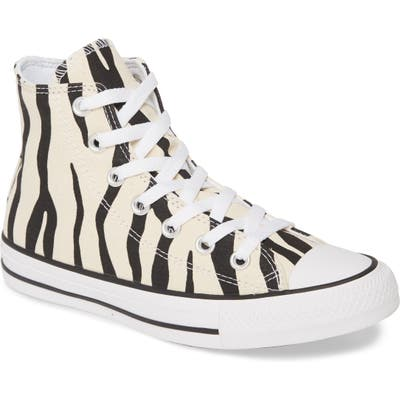 Converse Chuck Taylor All Star Zebra Stripe High Top Sneaker, Beige