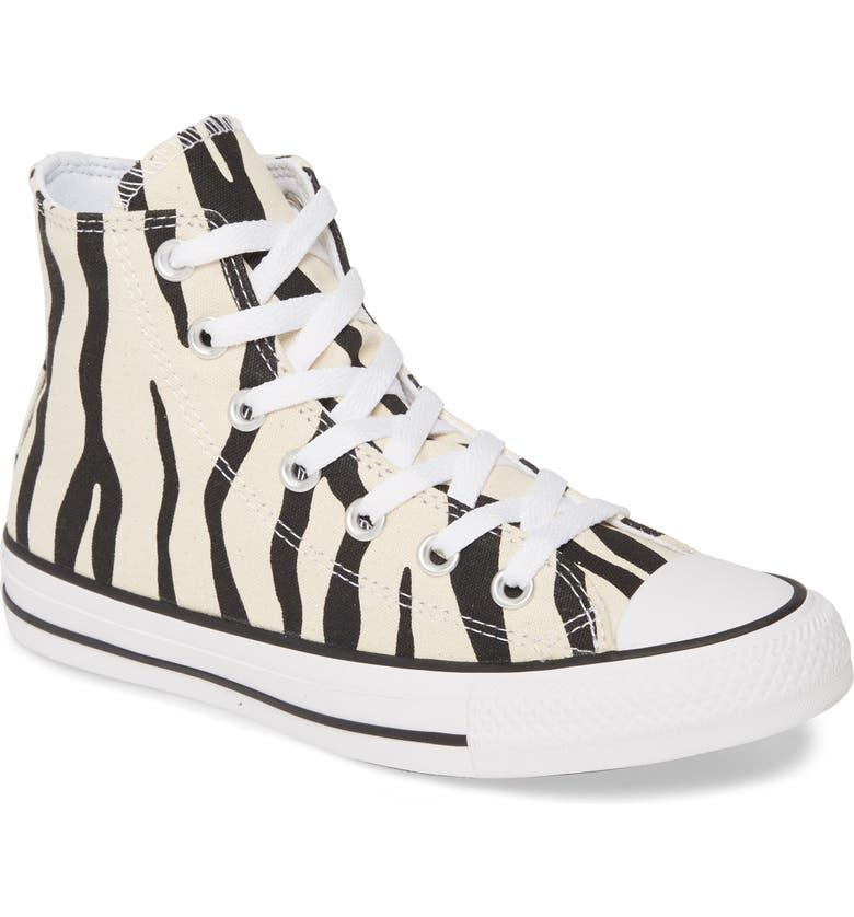 CONVERSE Chuck Taylor<sup>®</sup> All Star<sup>®</sup> Zebra Stripe High Top Sneaker, Main, color, 251