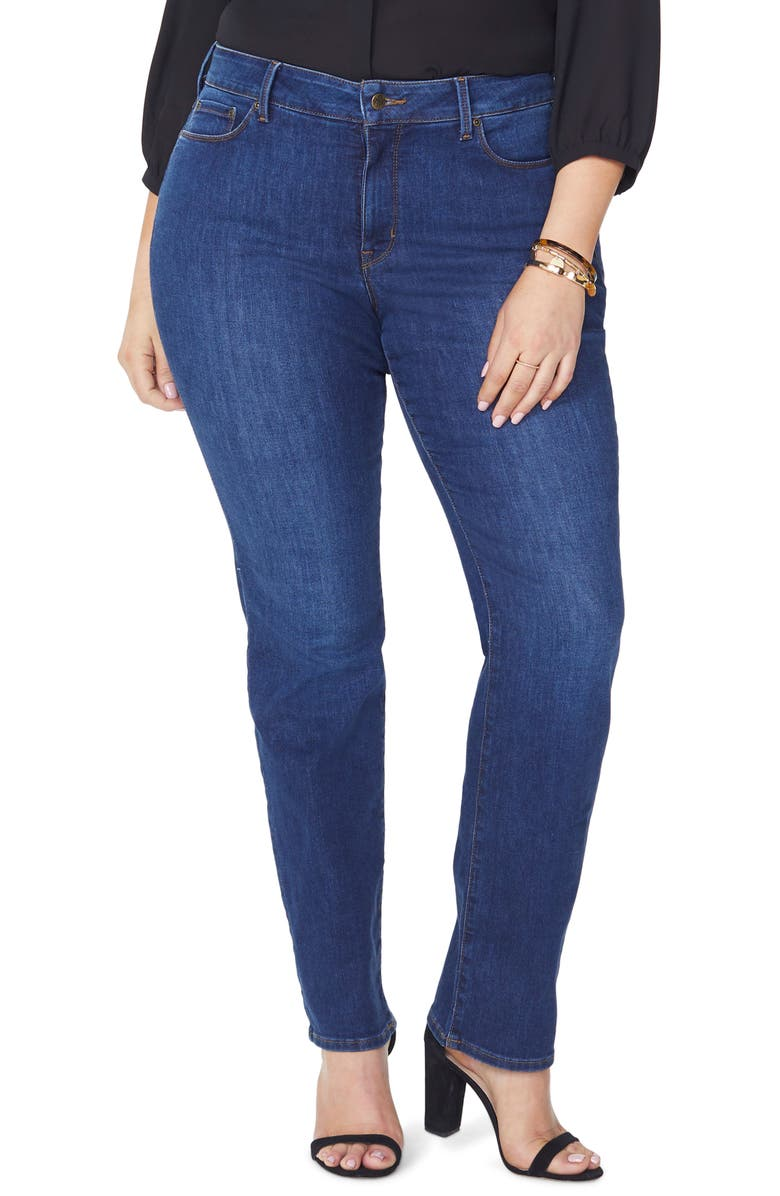 NYDJ Marilyn High Rise Straight Leg Jeans, Main, color, COOPER