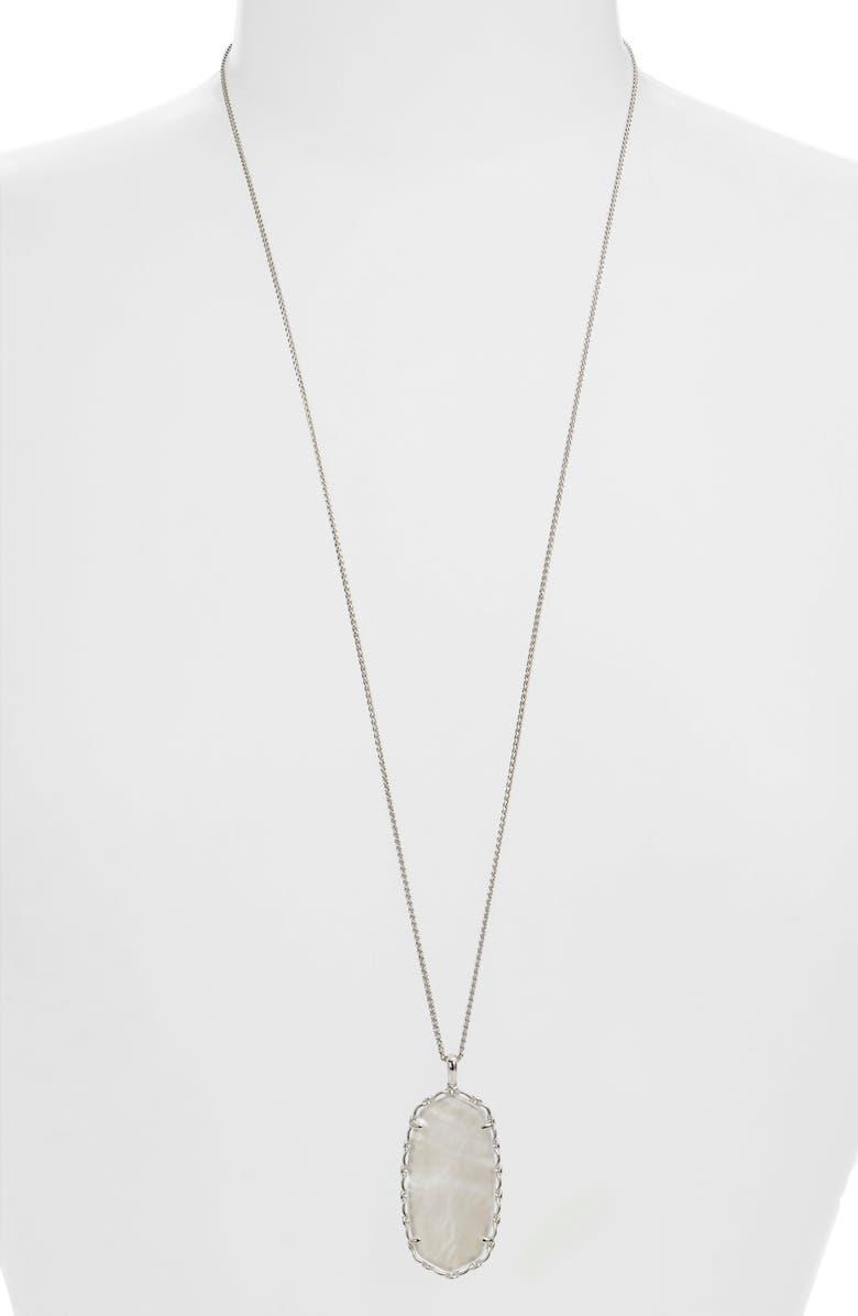 KENDRA SCOTT Reid Macramé Pendant Necklace, Main, color, 040