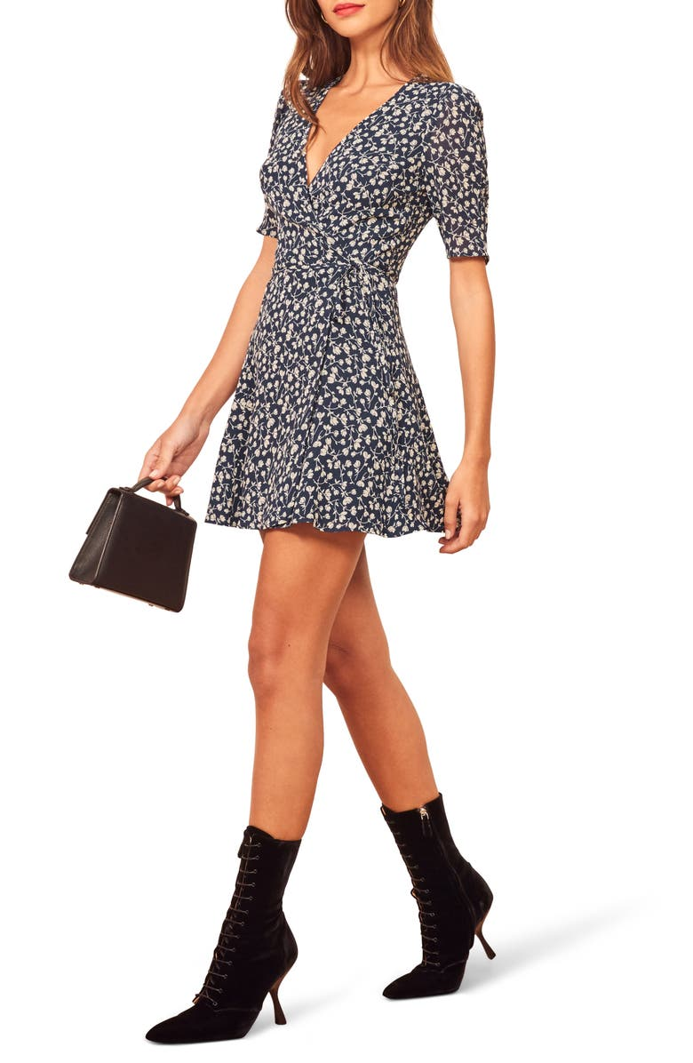 REFORMATION Lucky Wrap Dress, Main, color, ELYSE