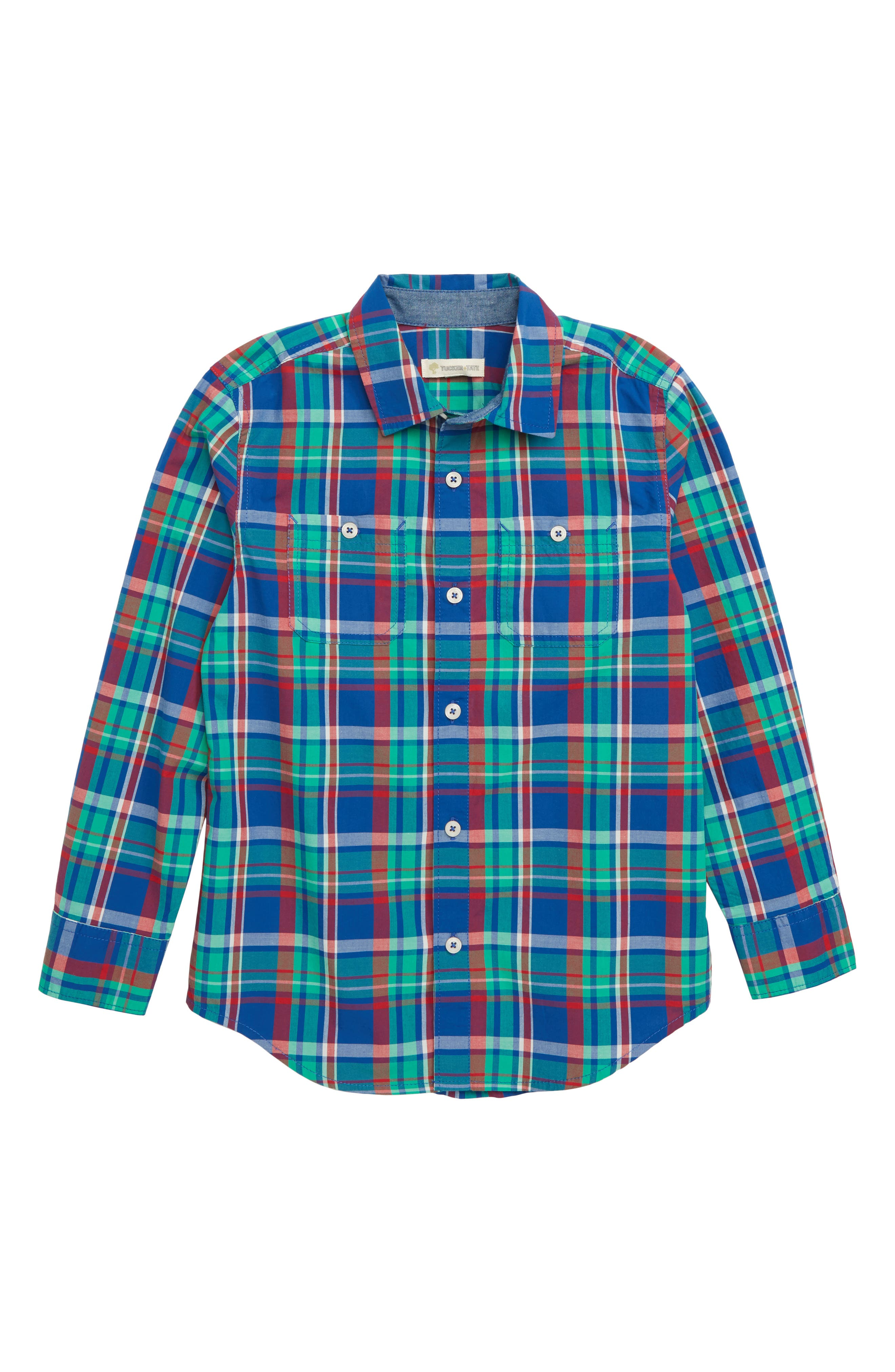 'Photo' Buffalo Plaid Woven Shirt, Main, color, 401