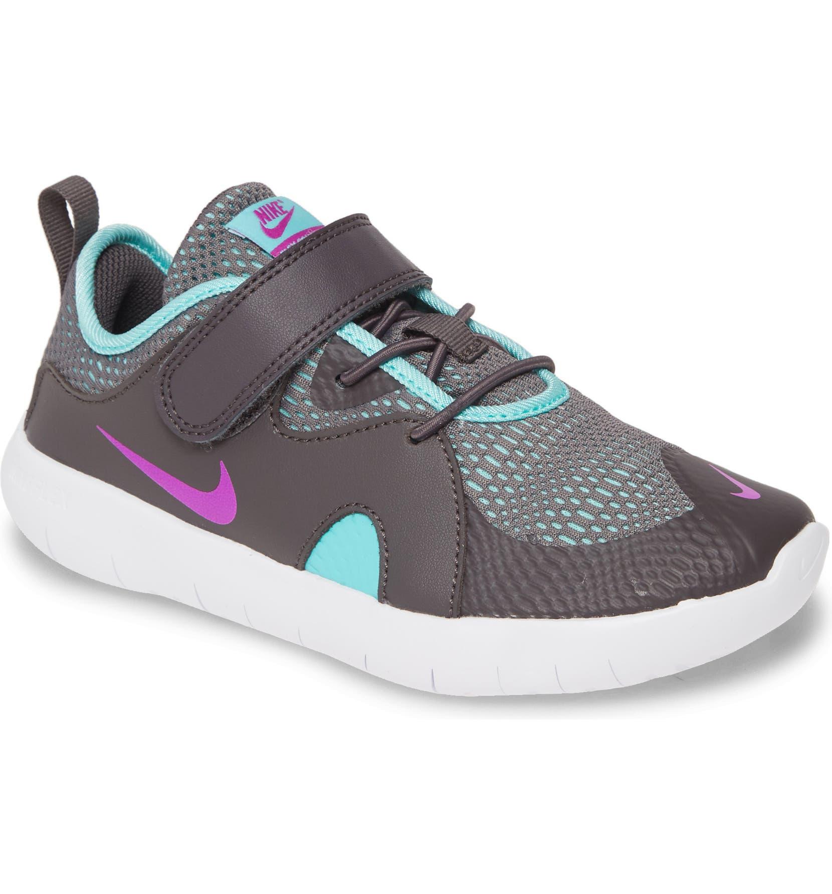 NIKE Flex Contact 3 PSV Running Shoe, Main, color, THUNDER GREY/ HYPER V