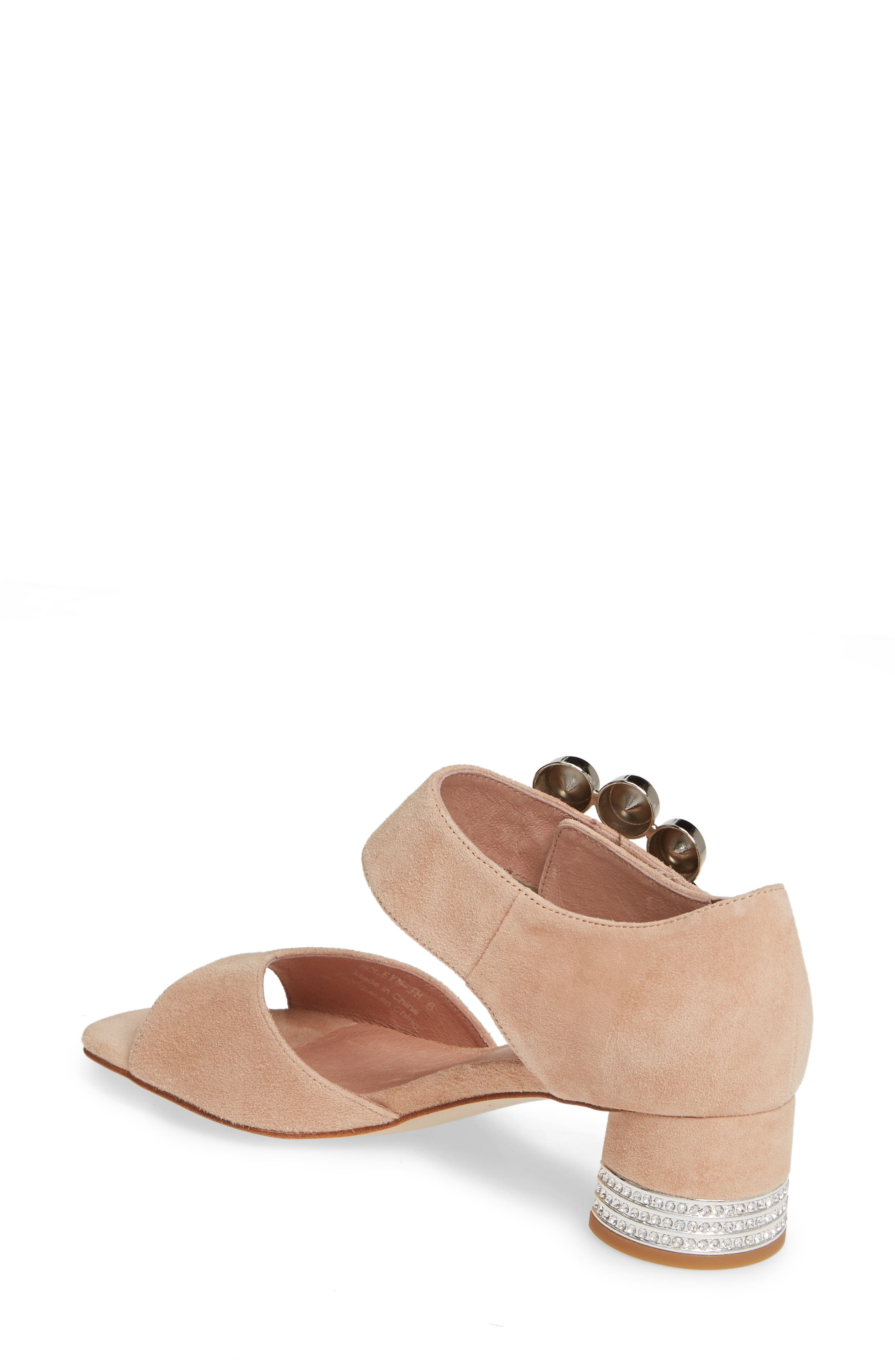 ,                             Boleyn Sandal,                             Alternate thumbnail 2, color,                             NUDE SUEDE/ SILVER