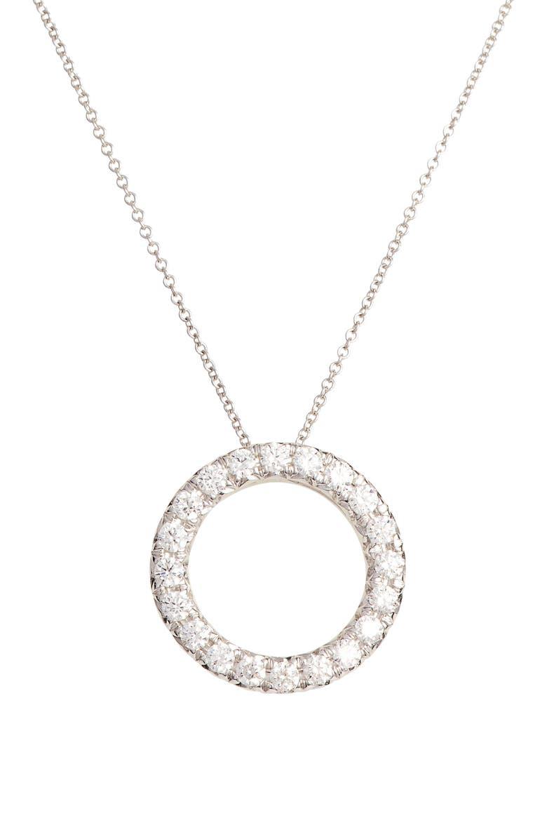 BONY LEVY 20th Anniversary Diamond Circle Pendant Necklace, Main, color, WHITE GOLD/ DIA