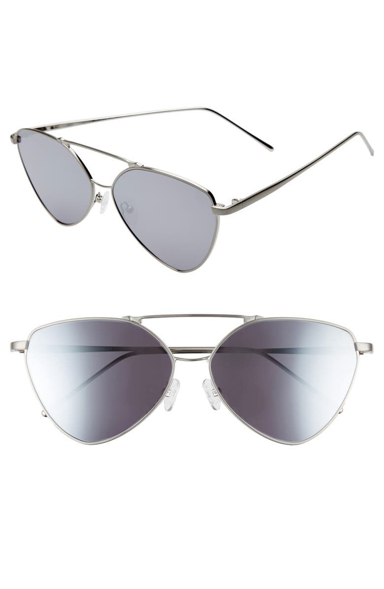 SOMETHING NAVY 62mm Wire Cat Eye Sunglasses, Main, color, 040