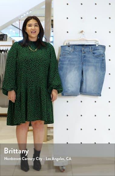 Briella Roll Cuff Denim Bermuda Shorts, sales video thumbnail