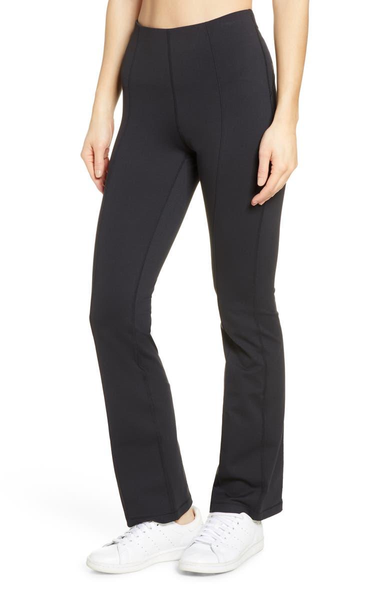 ZELLA High Waist Uptown Flare Pants, Main, color, BLACK