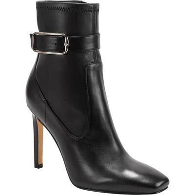 Marc Fisher Ltd Cyndi Buckle Square Toe Bootie, Black
