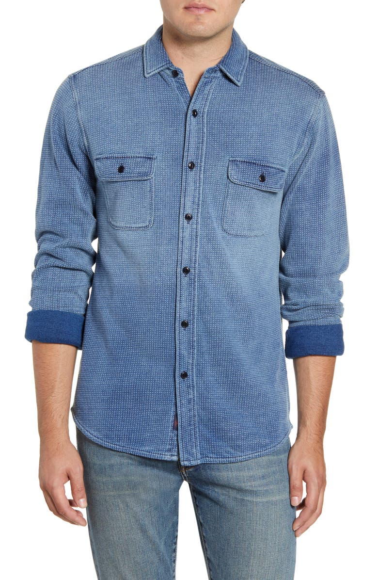 FAHERTY Regular Fit Knit Dobby Work Shirt, Main, color, 420