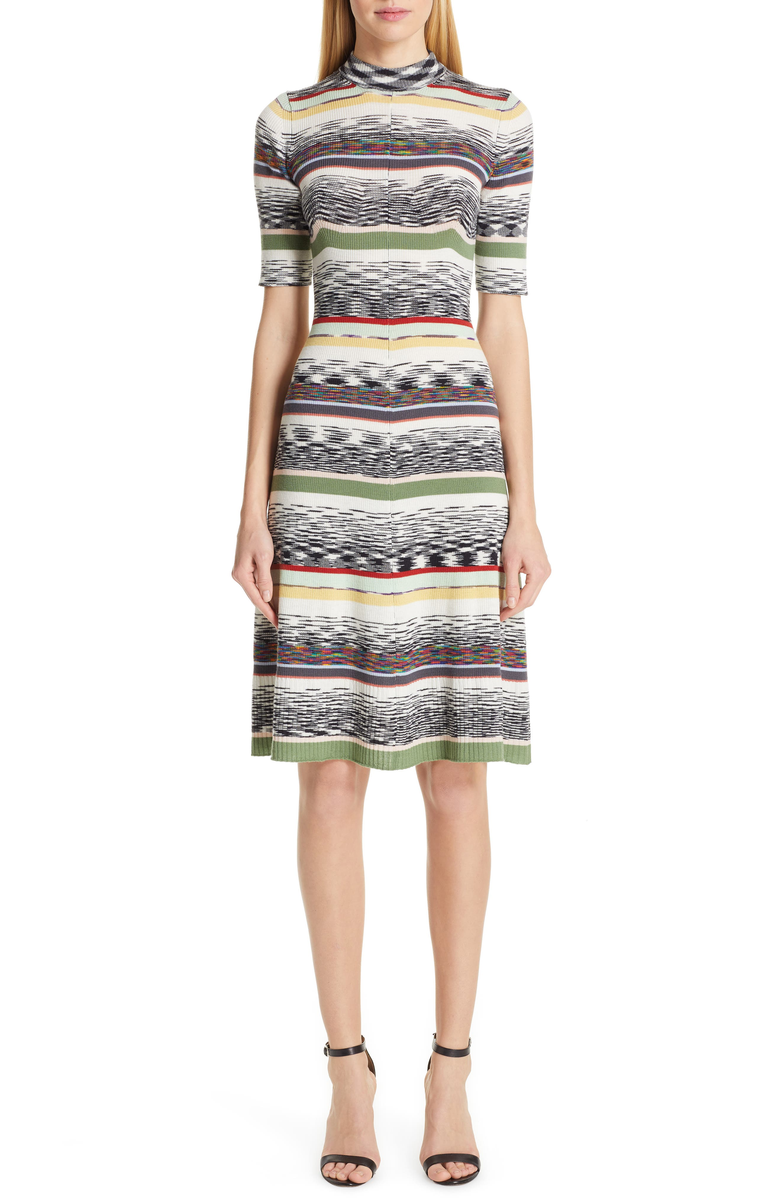 Missoni Multi Stripe Sweater Dress, 8 IT - Grey
