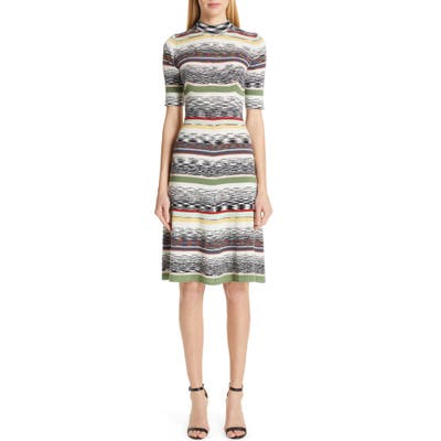 Missoni Multi Stripe Sweater Dress, 8 IT - Grey