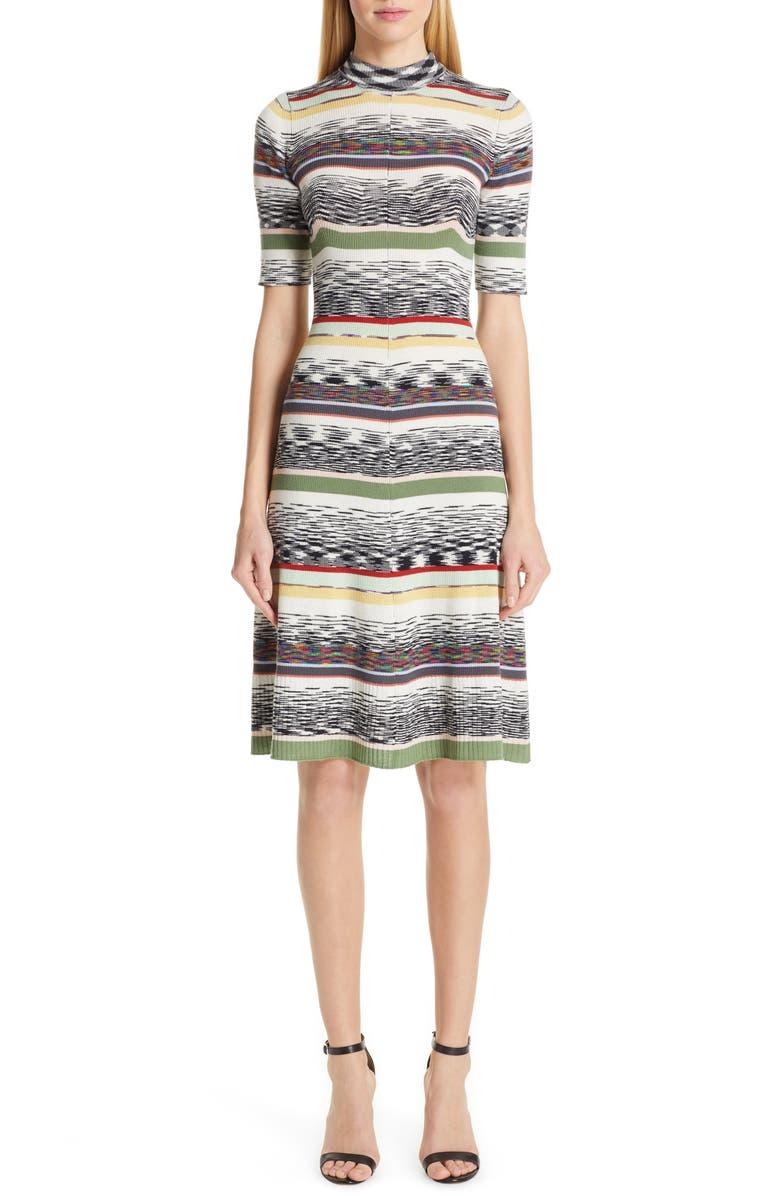 MISSONI Multi Stripe Sweater Dress, Main, color, WHITE