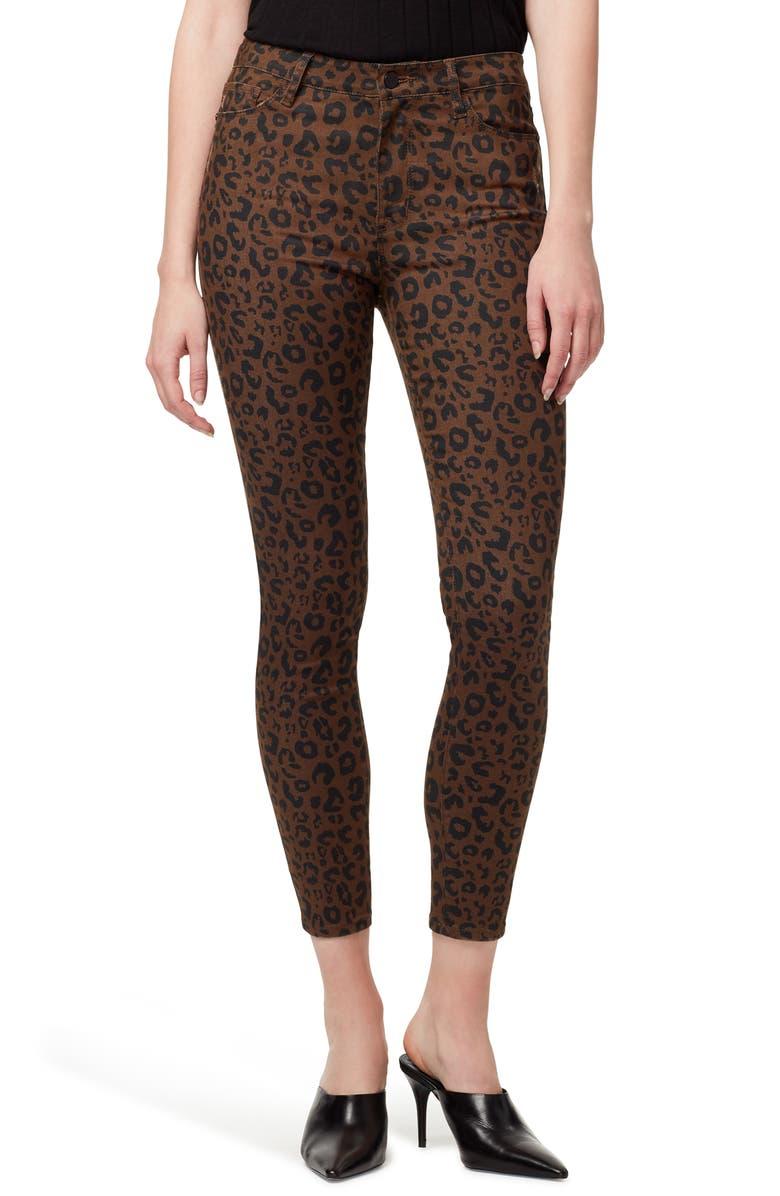 SANCTUARY Social Standard Leopard High Waist Ankle Skinny Pants, Main, color, 210