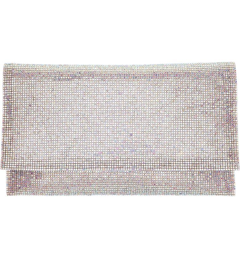 NINA Crystal Clutch, Main, color, WHITE AB