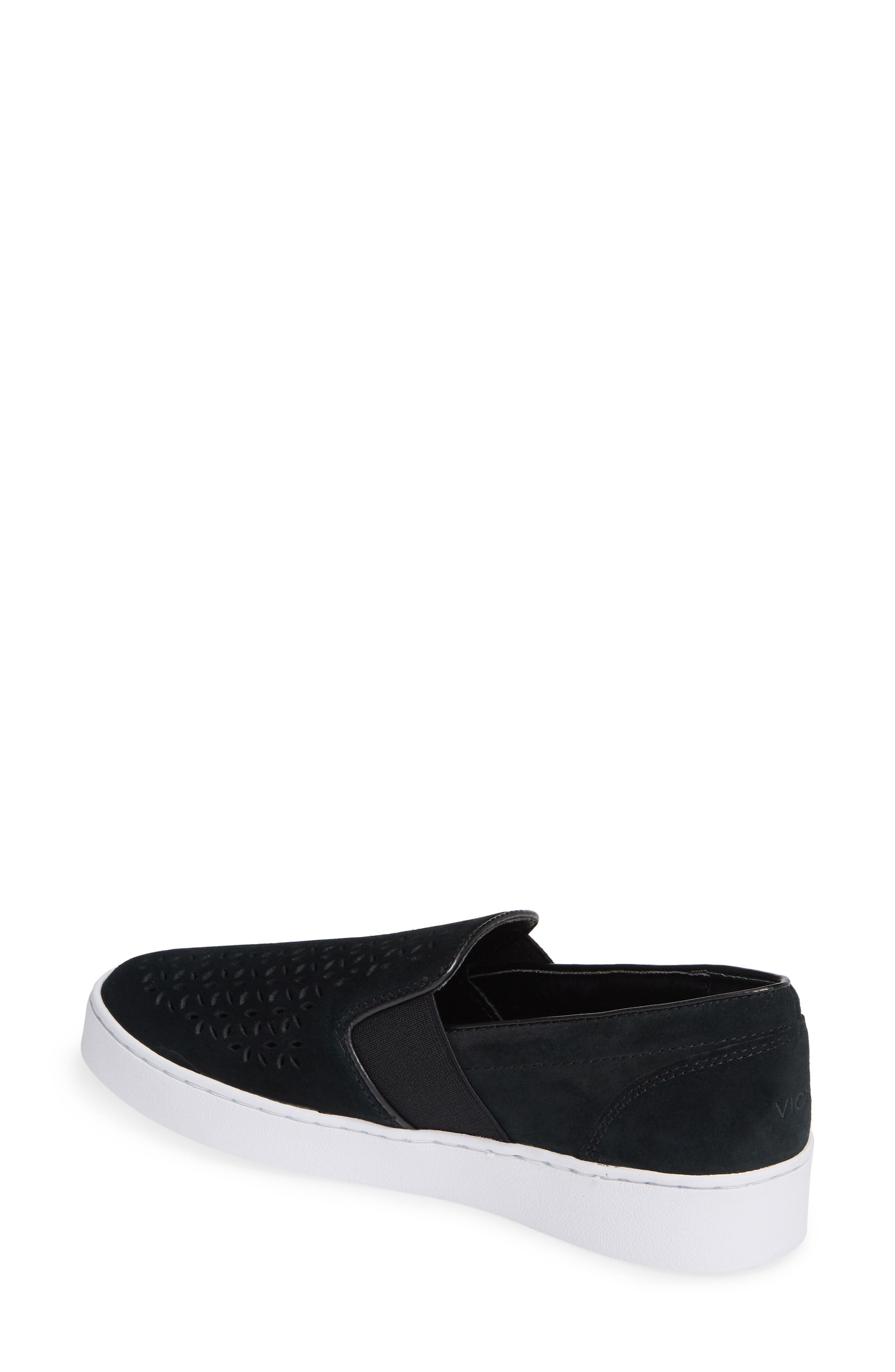 ,                             Kani Perforated Slip-On Sneaker,                             Alternate thumbnail 2, color,                             BLACK NUBUCK