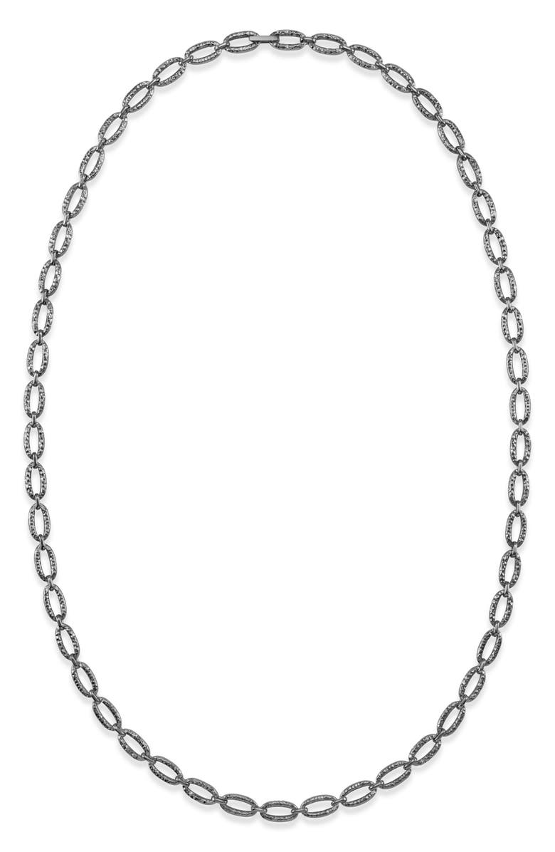 KENDRA SCOTT Hammered Chain Link Necklace, Main, color, VINTAGE SILVER
