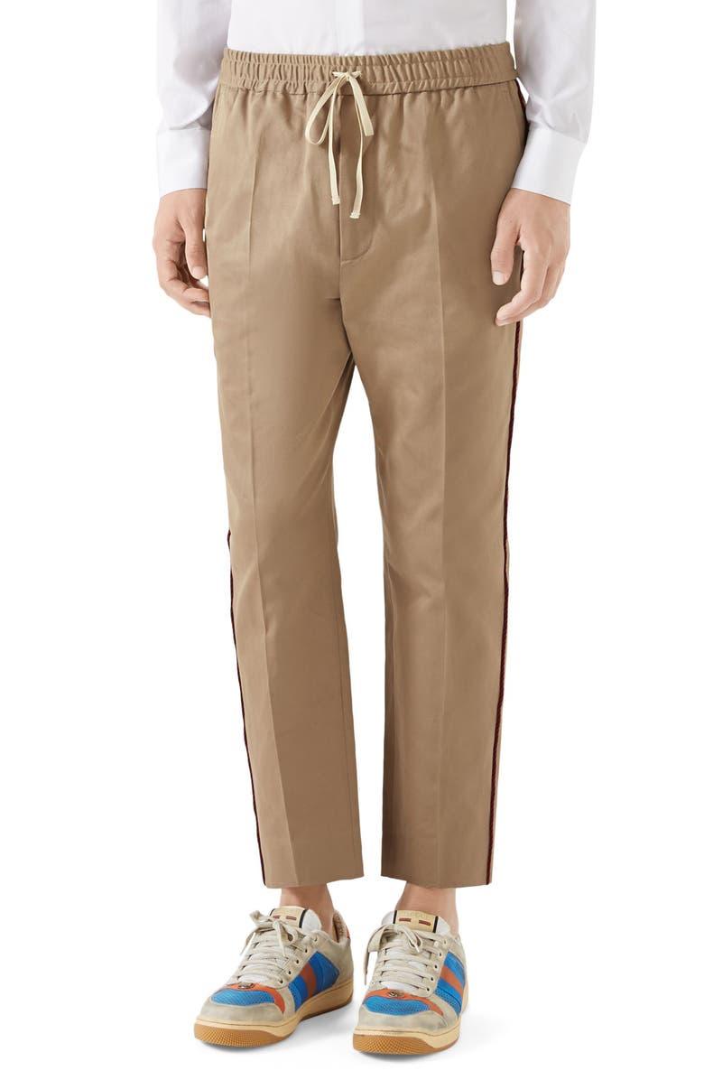GUCCI Cotton Pants, Main, color, 200