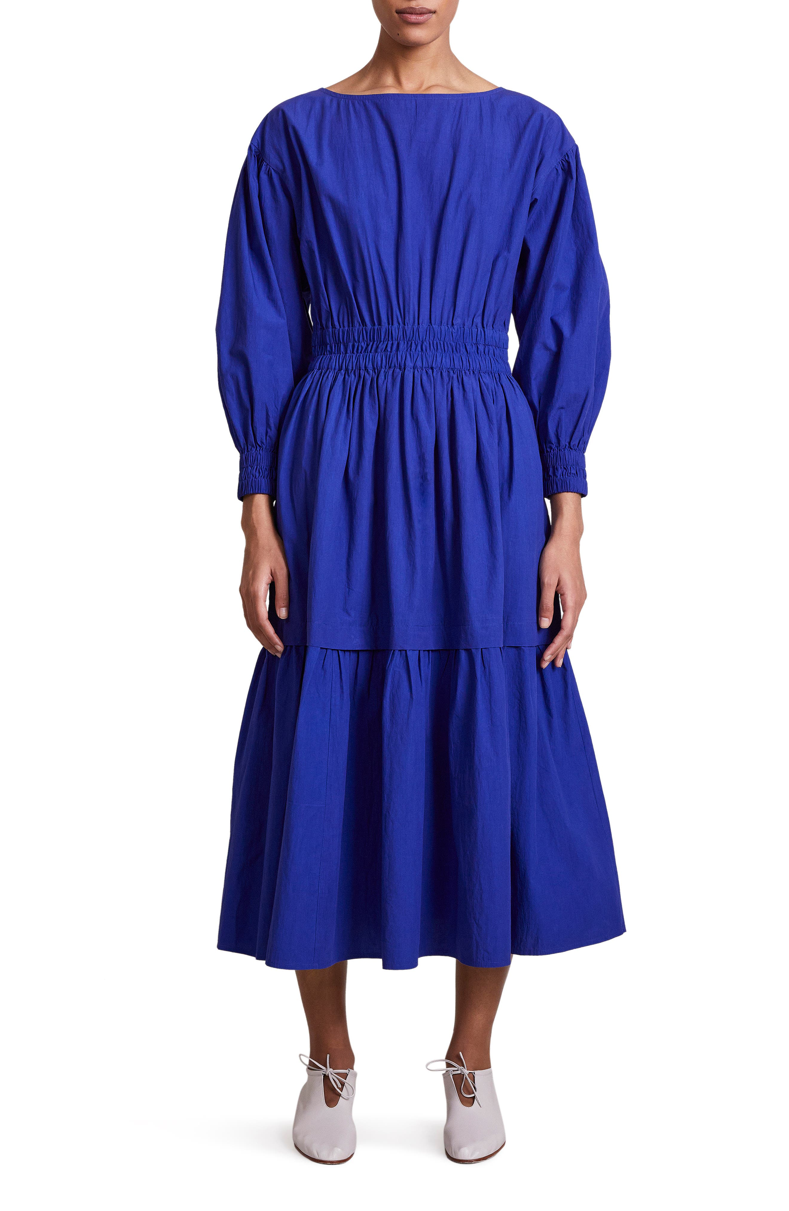 Estrella Long Sleeve Organic Cotton Dress