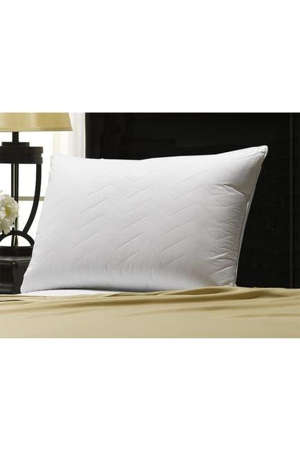 "Image of Ella Jayne Home Soft Luxury Plush Quilted Chevron Gel Fiber Stomach Sleeper King Pillow - 20""x36"""