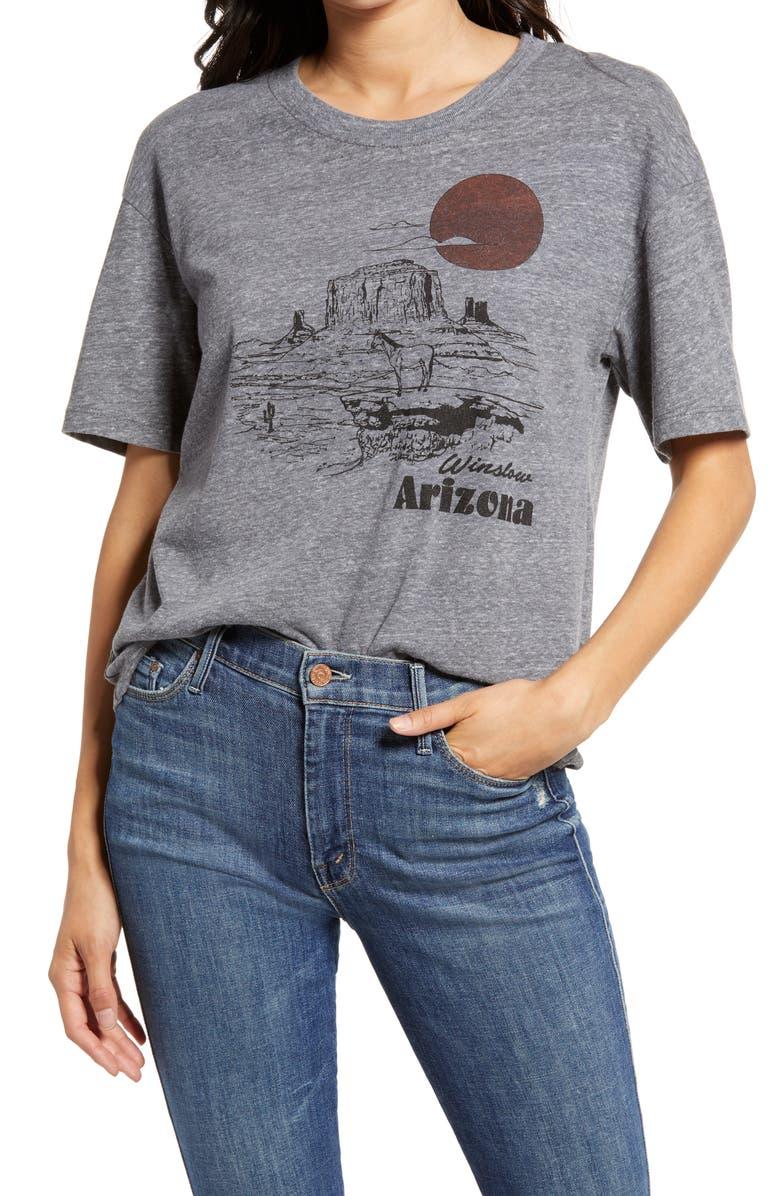 TREASURE & BOND Winslow Arizona Graphic Tee, Main, color, GREY- ARIZONA