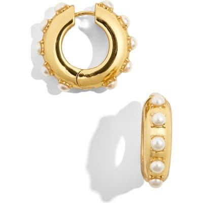 Baublebar Claire Imitation Pearl Huggie Earrings