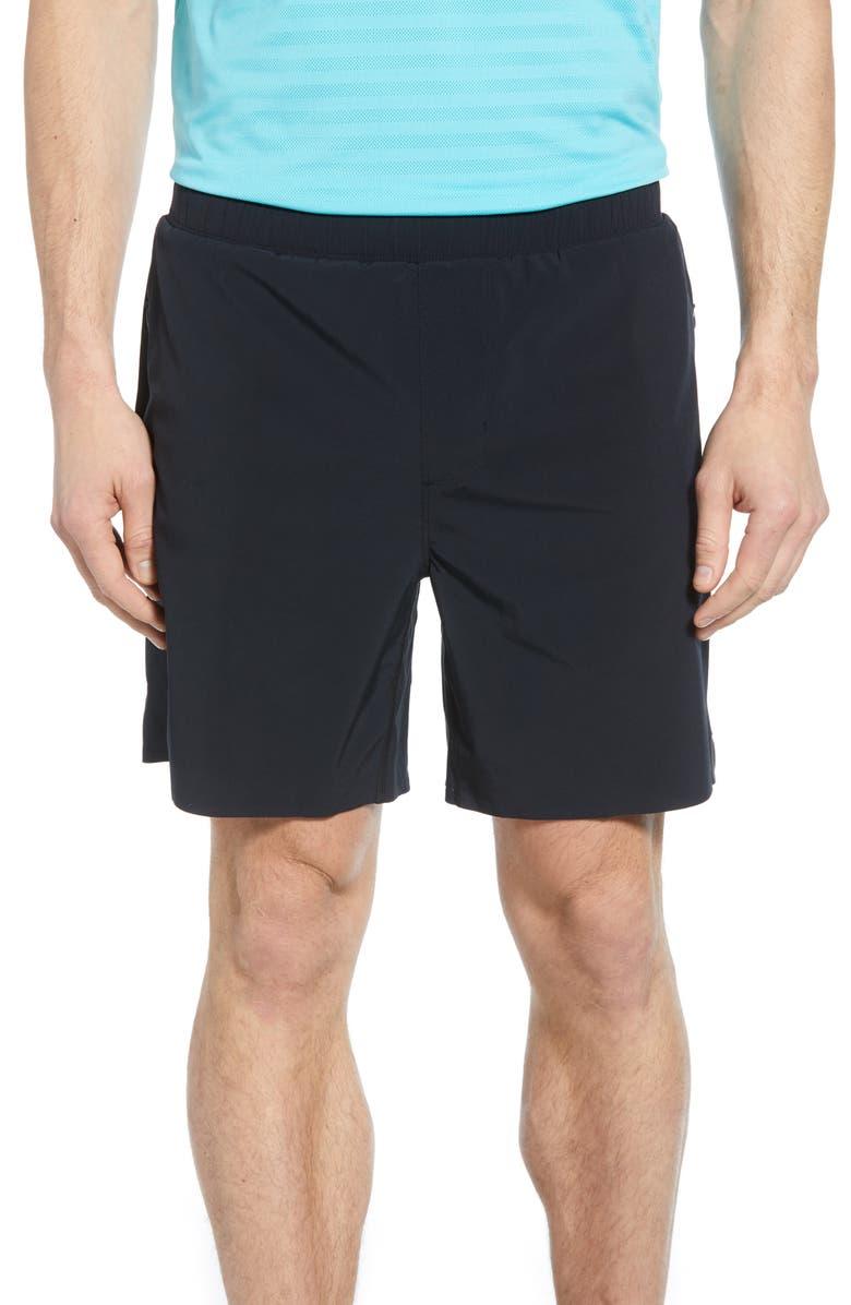 RHONE Swift Athletic Shorts, Main, color, BLACK