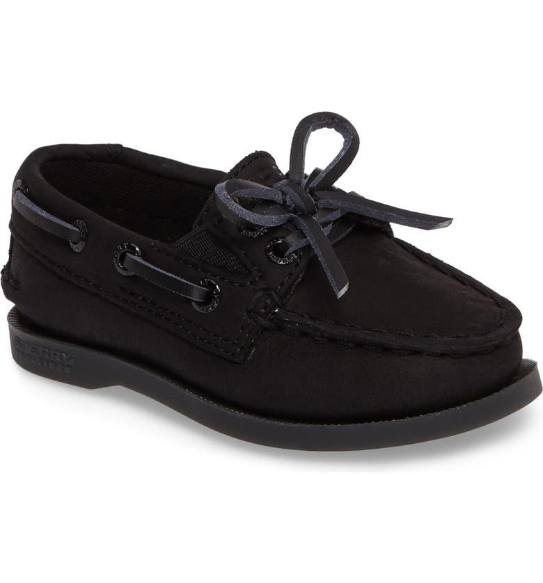 SPERRY KIDS 'Authentic Original' Boat Shoe, Main, color, BLACK
