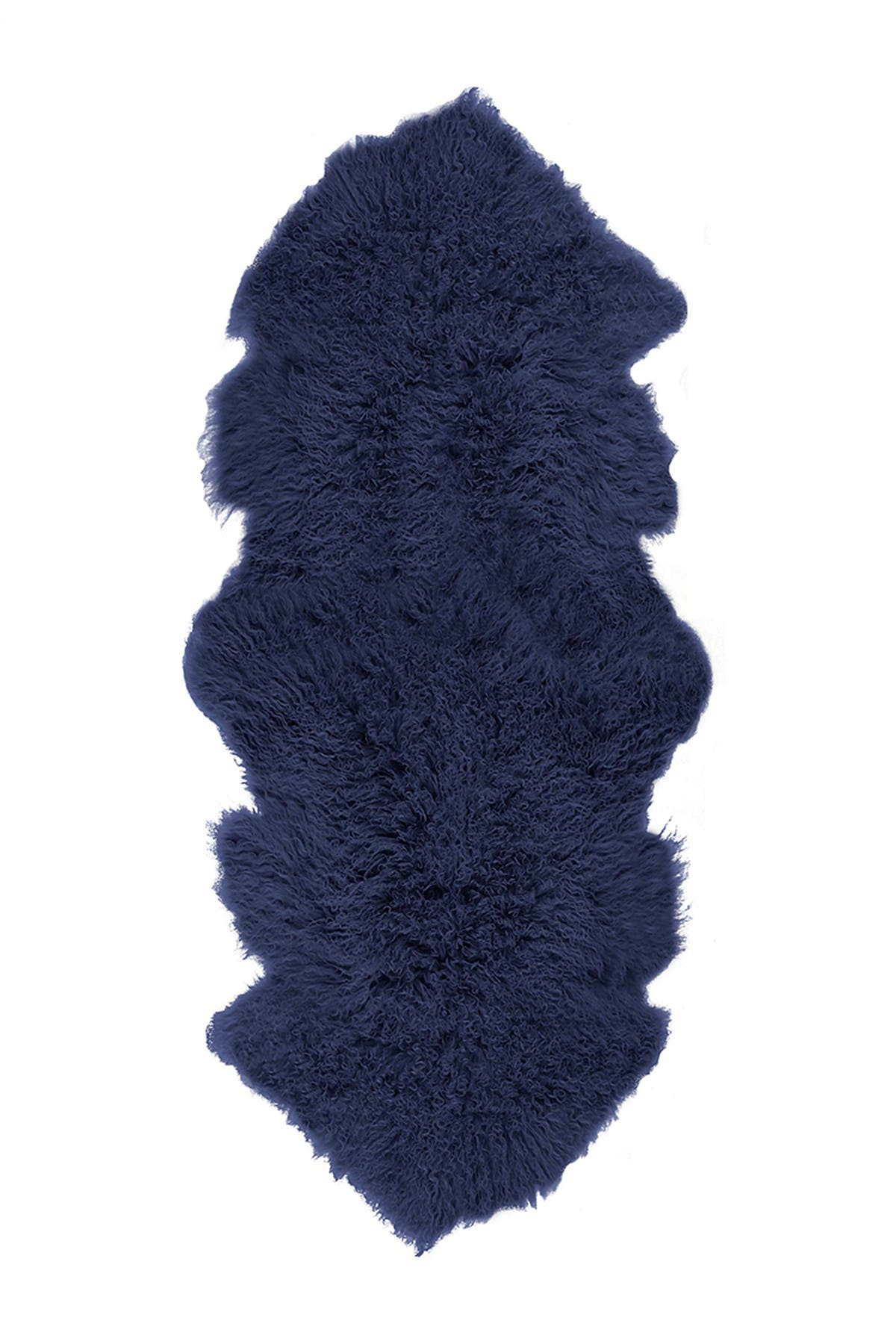 Image of LUXE Rockwall Faux Fur Double Throw - 2ft. x 6ft - Ink