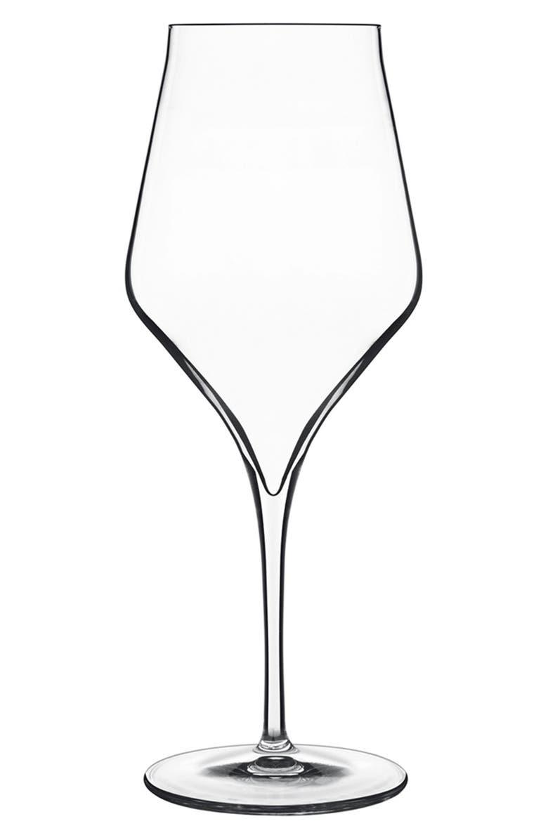LUIGI BORMIOLI Supremo Set of 6 Bordeaux Wine Glasses, Main, color, WHITE