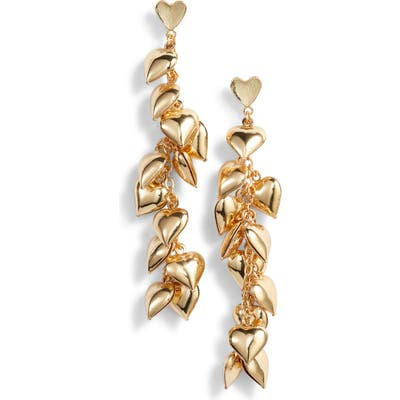 Ettika Heart Cluster Drop Earrings