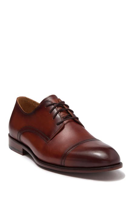 Image of Curatore Durante Leather Derby Shoe