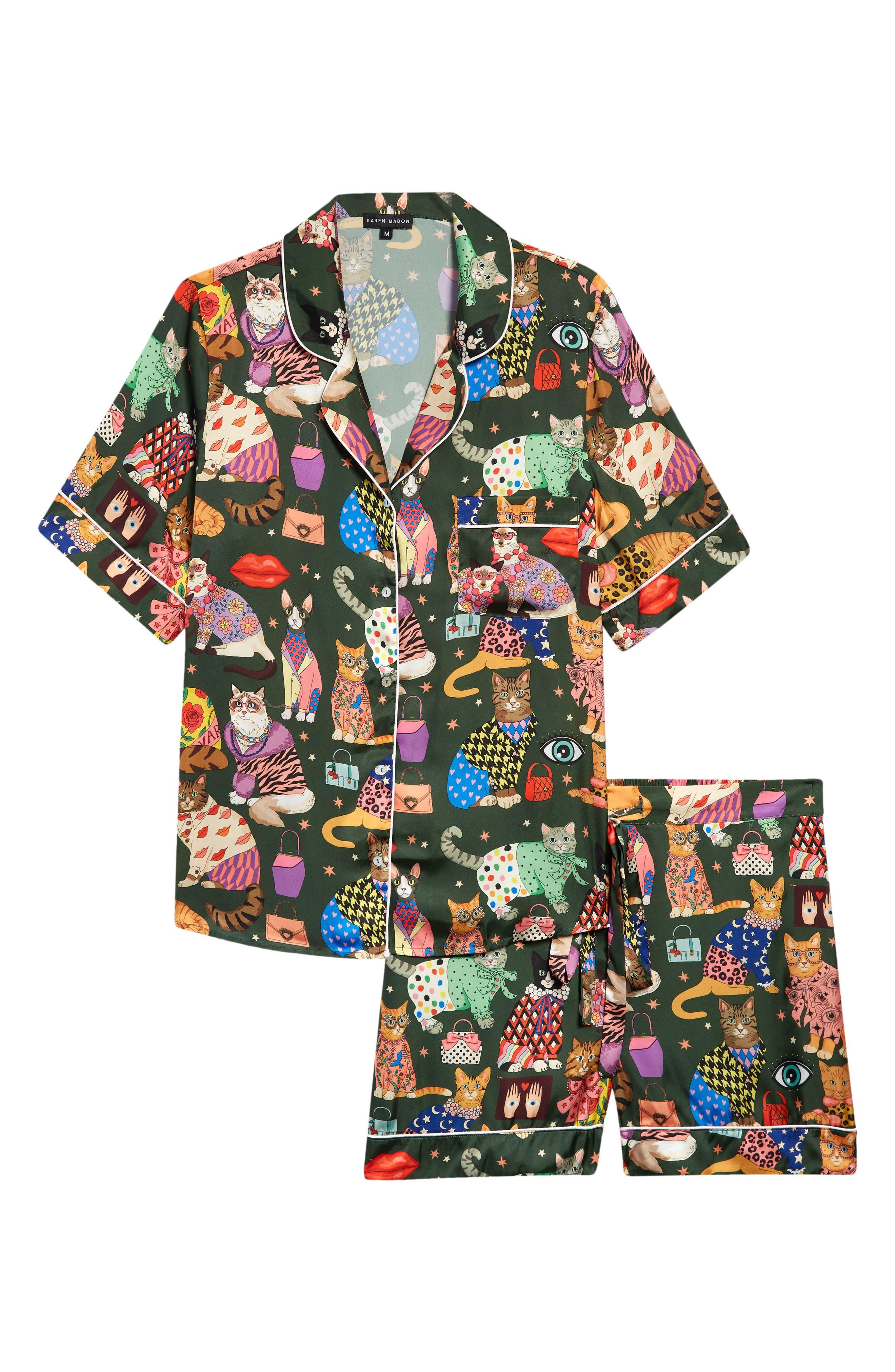 Fashion Cats Short Pajamas