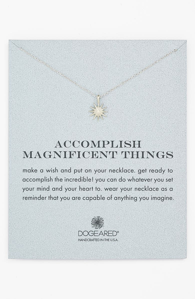 DOGEARED 'Accomplish Magnificent Things' Pendant Necklace, Main, color, 040