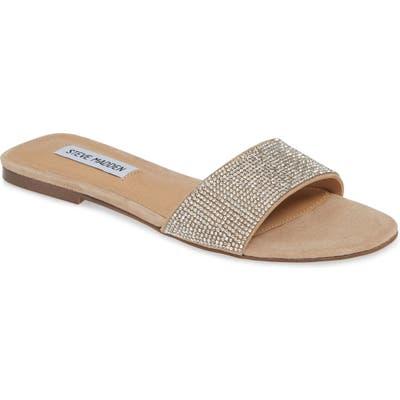 Steve Madden Bev Slide Sandal- Metallic